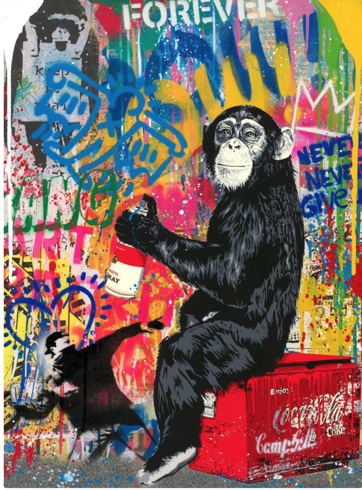 Mr Brainwash Everyday Life Silkscreen and Mixed Media on Paper