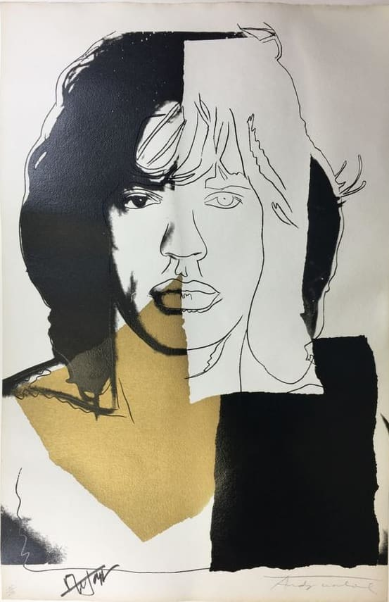 Andy Warhol Mick Jagger Screenprint
