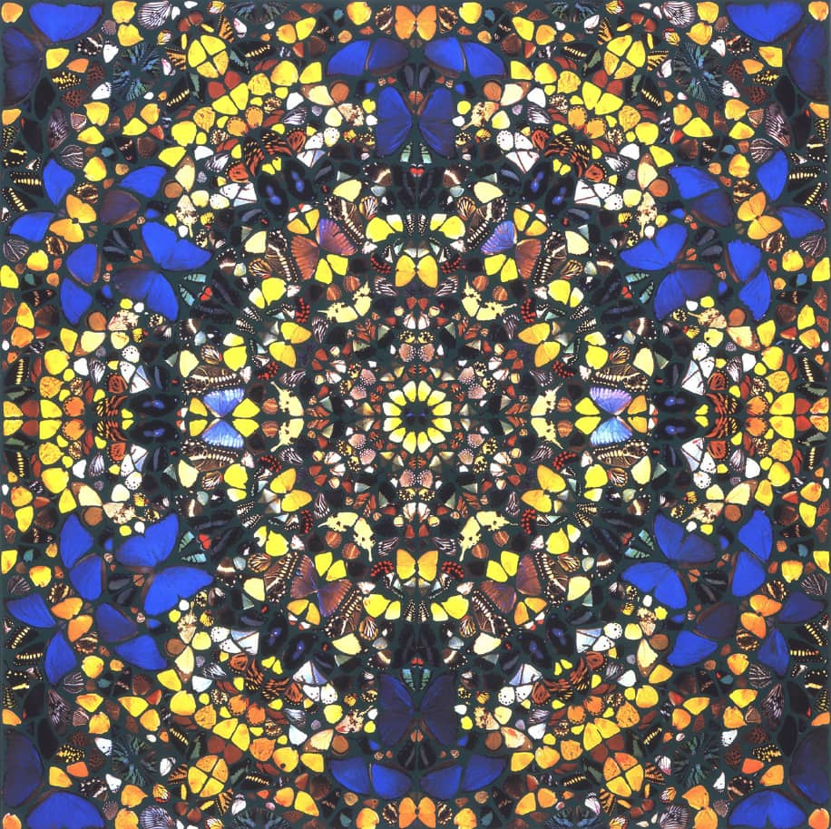 Damien Hirst St Paul's Silkscreen Print with Glazes on Paper