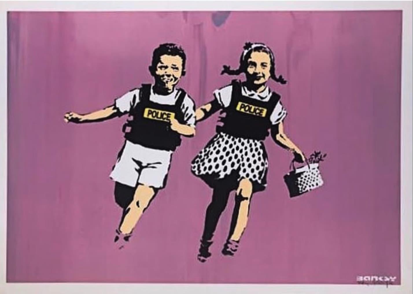 Banksy Jack and Jill (Signed) Screenprint