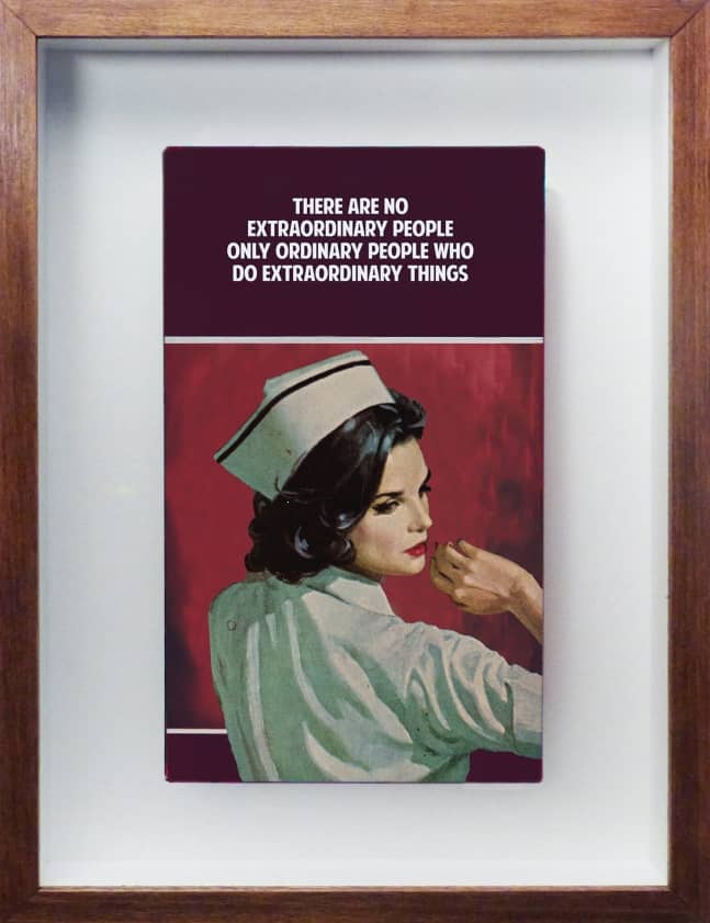 The Connor Brothers Extraordinary People Hand Painted Vintage Paperback with Silkscreen