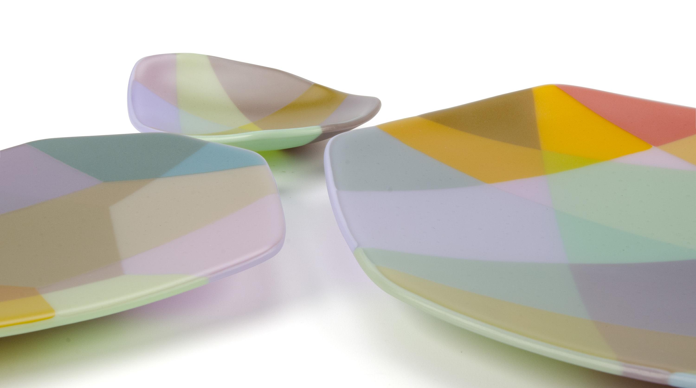 Anu Penttinen, Residency Platters (Muted), kilnformed glass