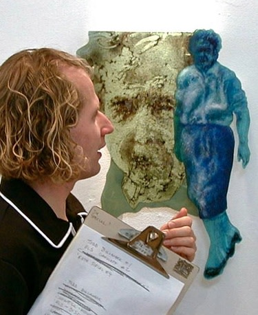 """Catharine Newell's """"Blue Woman"""" was awarded Honorable Mention in 2001."""