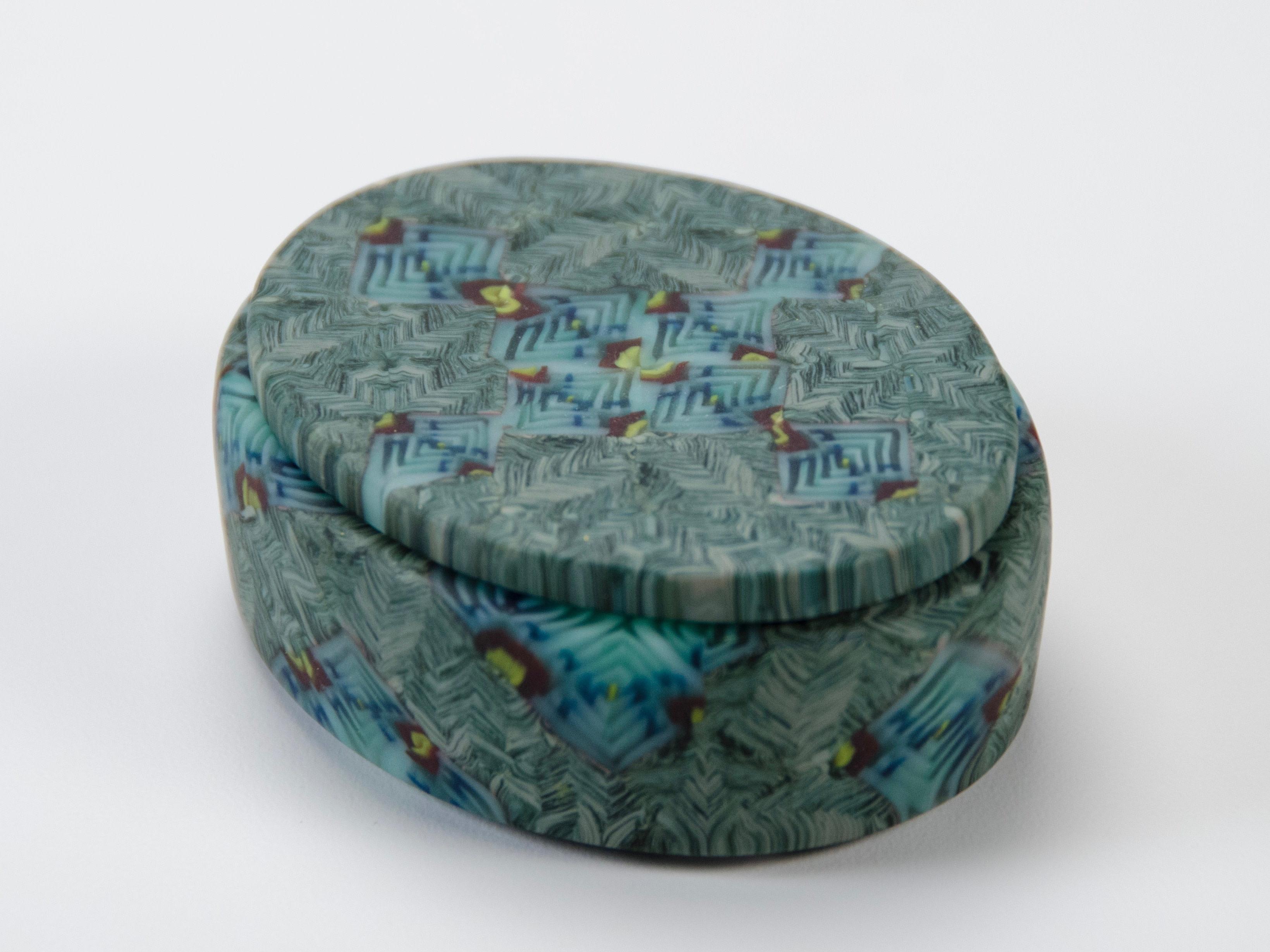 Yoko Yagi, Small Box, kilnformed and coldworked murrine glass