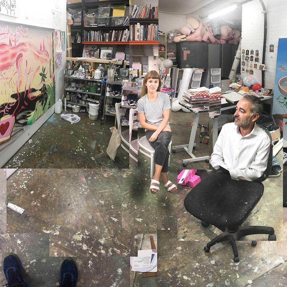Joe Madeira studio visit with artist Jane Hayes Greenwood