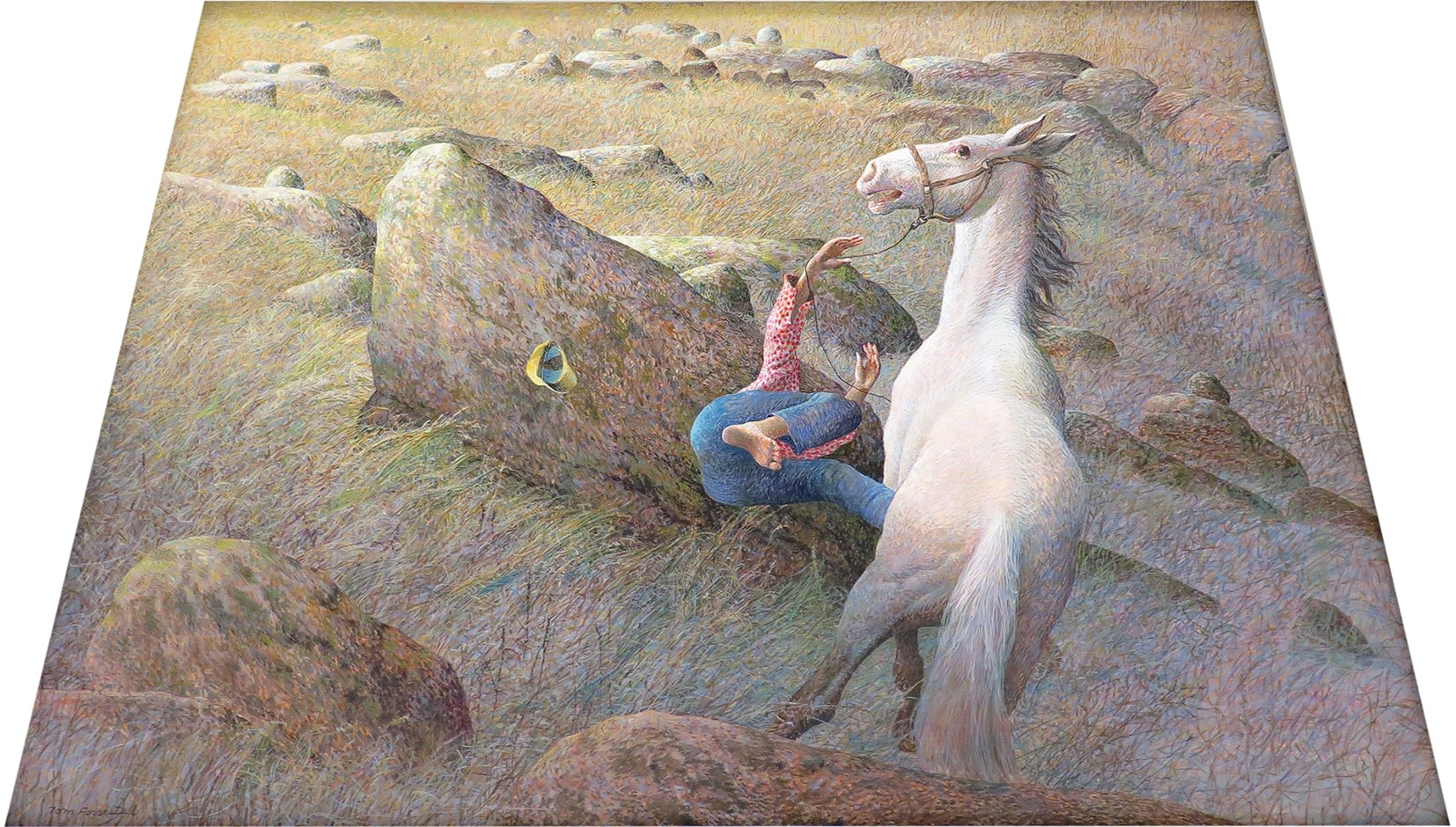 Tom Forrestall, C.M., R.C.A. 1936- Out of the Headlands / Falling Rider / Startled Horse / Give it Your Own Title - TF, 2003