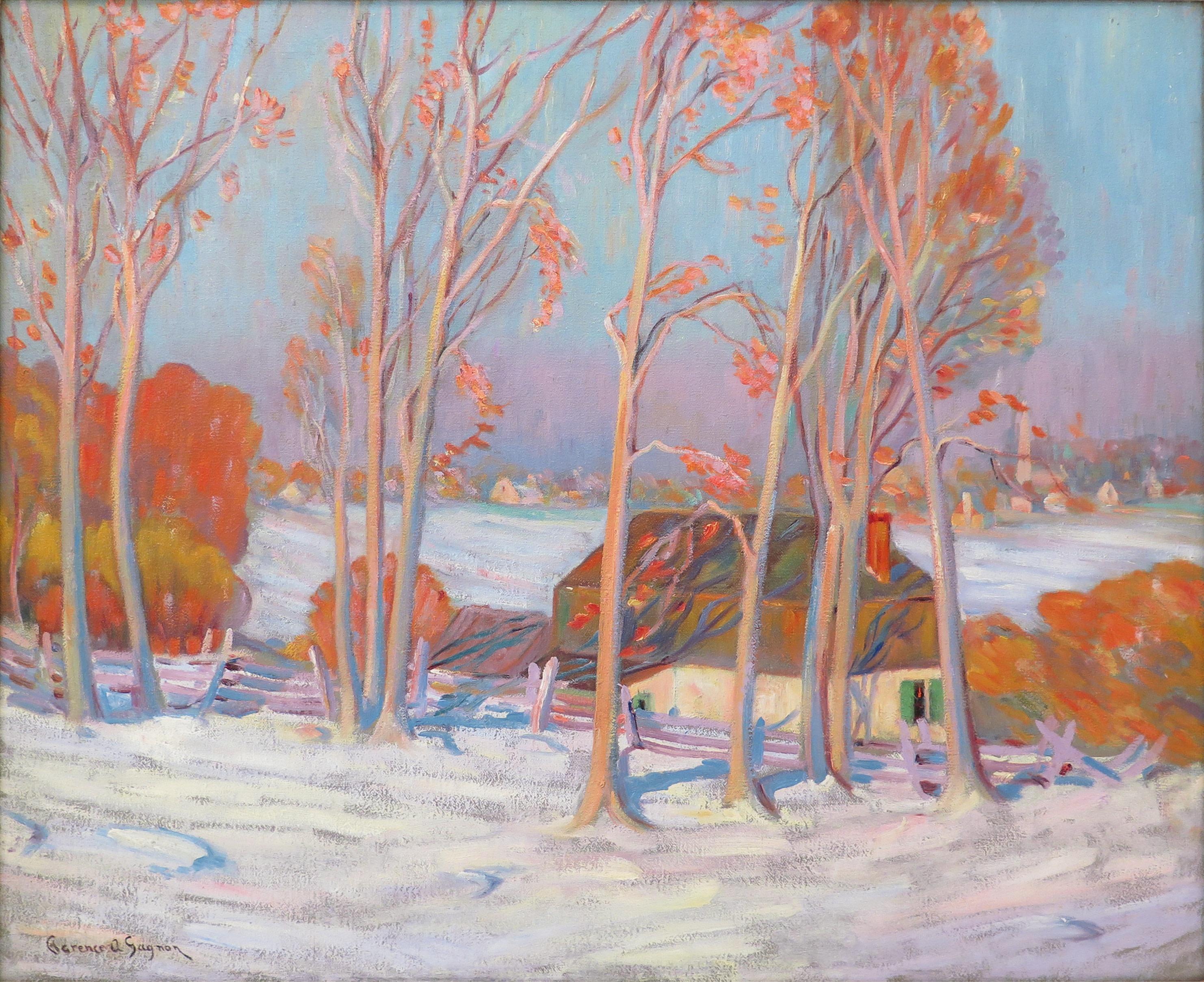 Première neige, Baie-Saint-Paul, Clarence Gagnon, huile sur toile