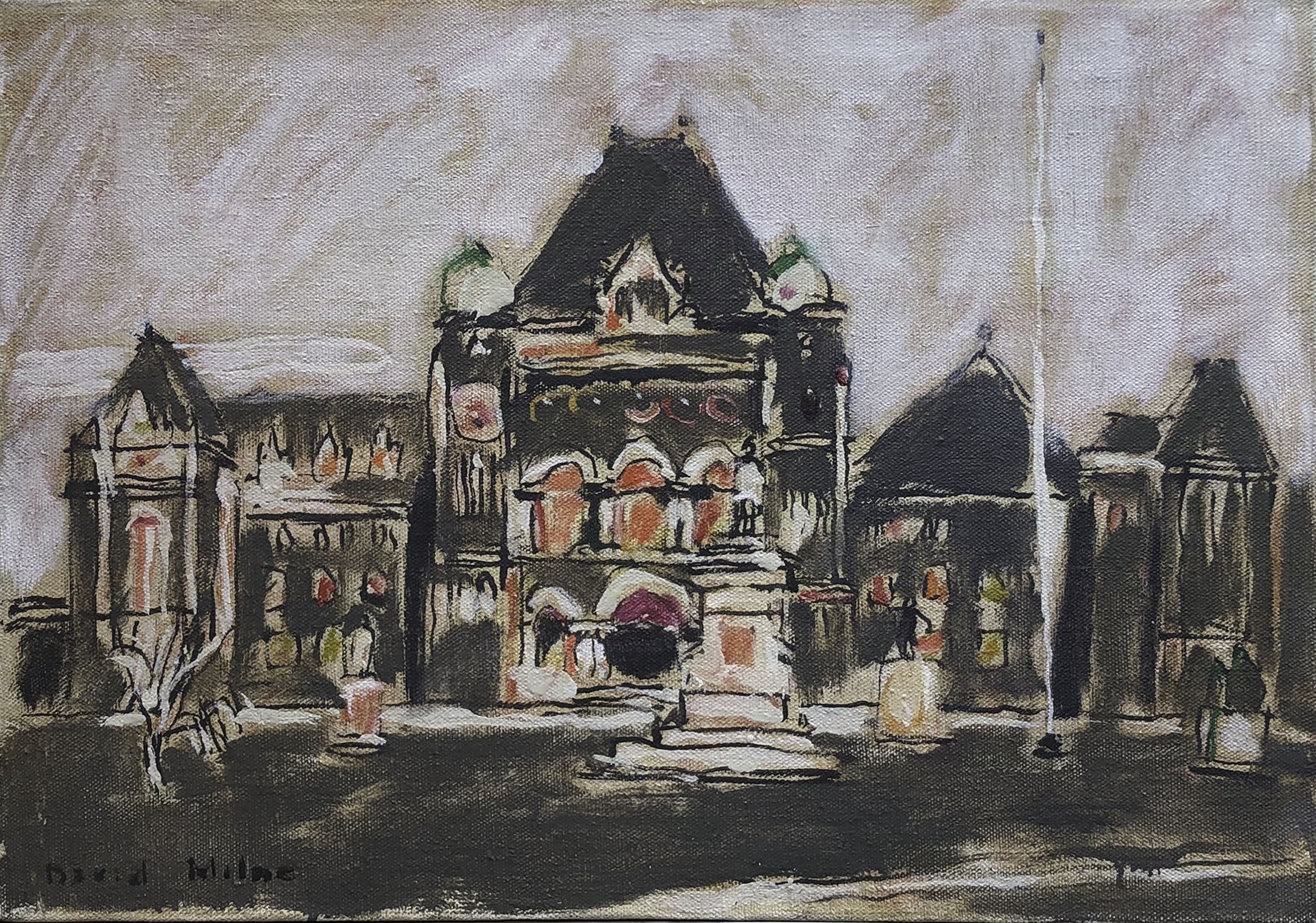 David Milne, Parliament Buildings at Queen's Park, 1940
