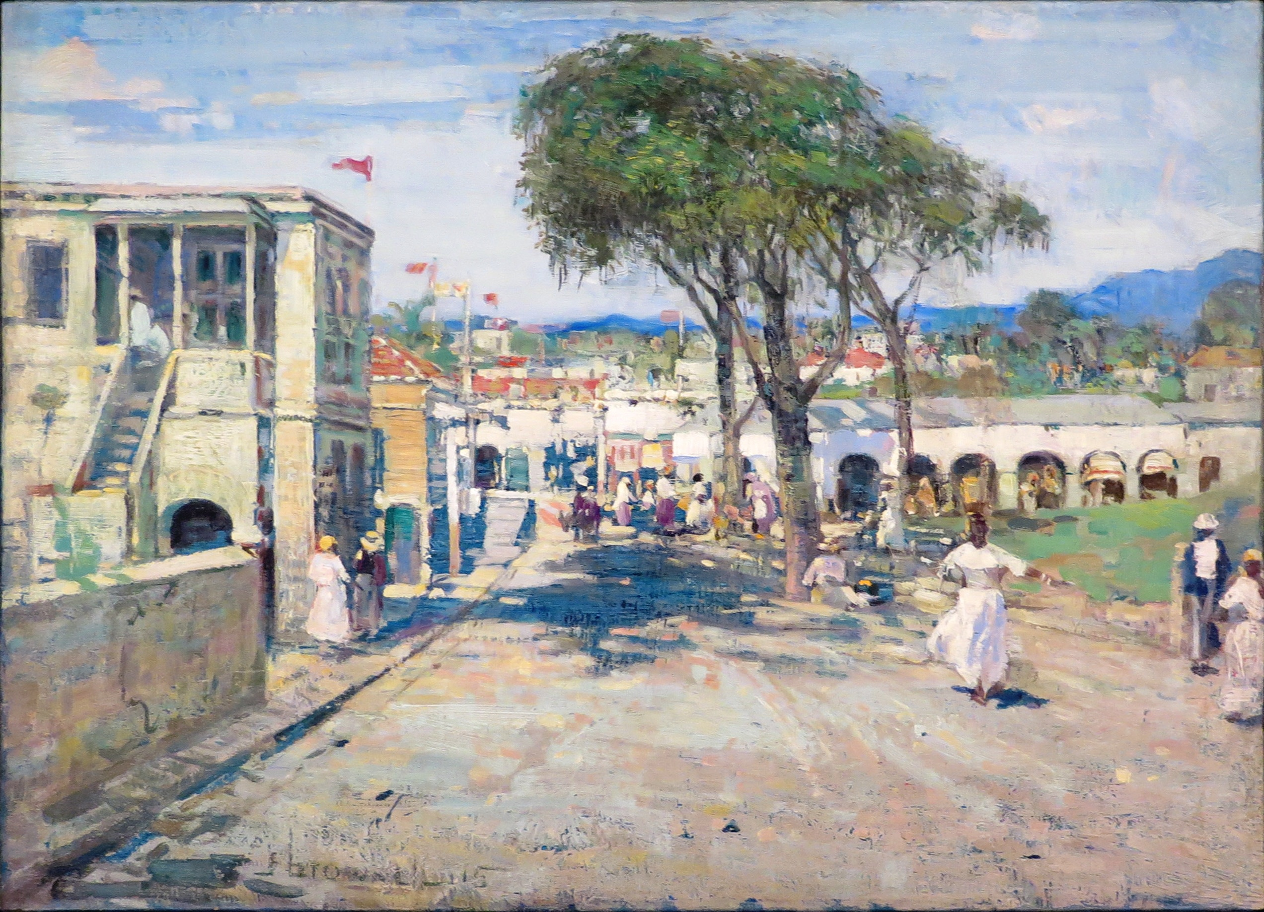 Franklin Brownell, R.C.A. 1857-1946 Street Scene, West Indies, 1915
