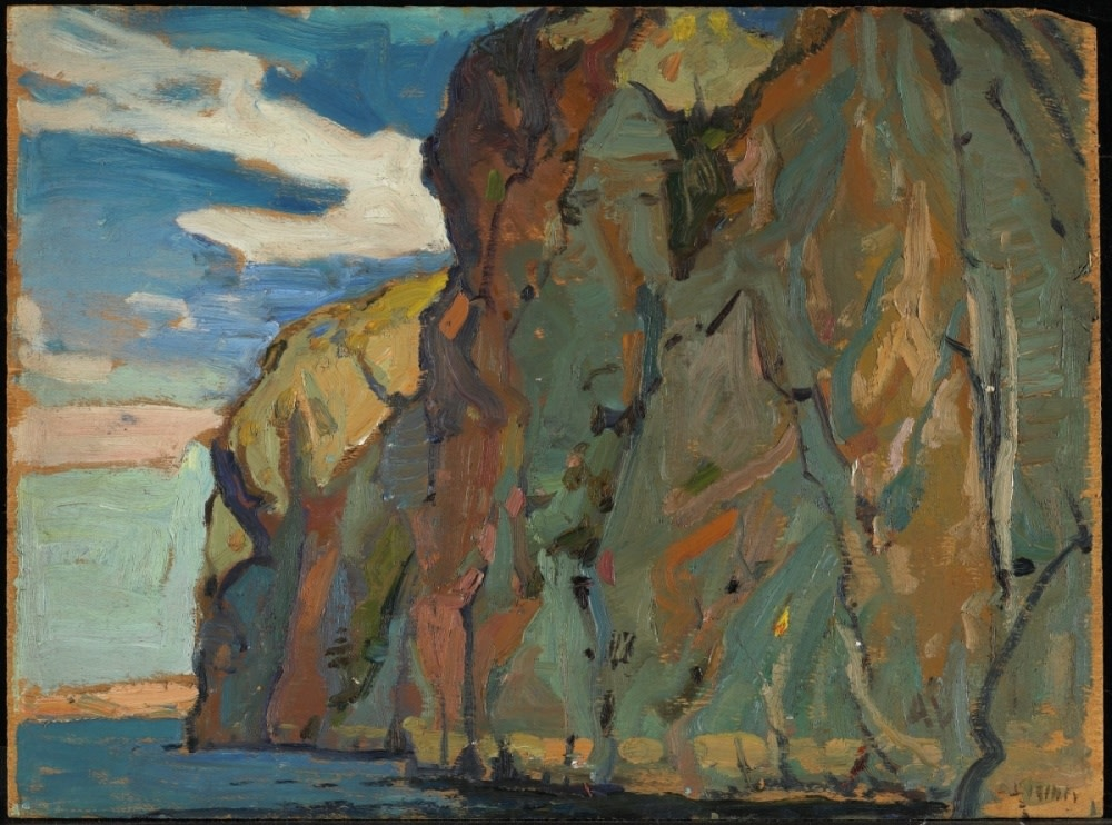 "Arthur Lismer, Study for ""The Big Rock, Bon Echo,"" 1922, National Gallery of Canada, Access. No. 6117"