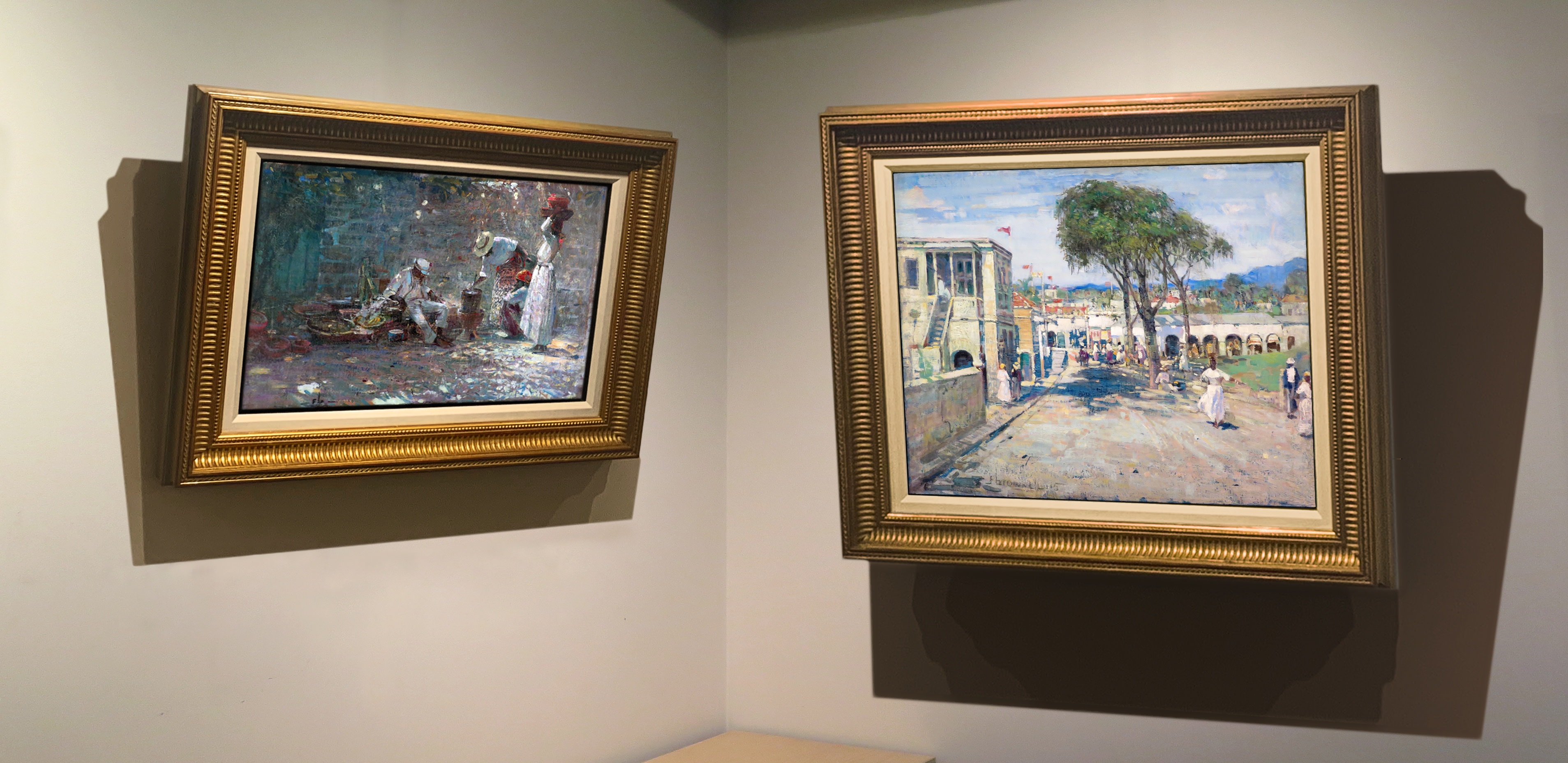 At the Well (Scene in the West Indies), c. 1915 and Street Scene, West Indies, 1915, Alan Klinkhoff Gallery, February 2019