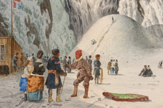 Ice Cone at Montmorency Falls 8 x 11 detail-3