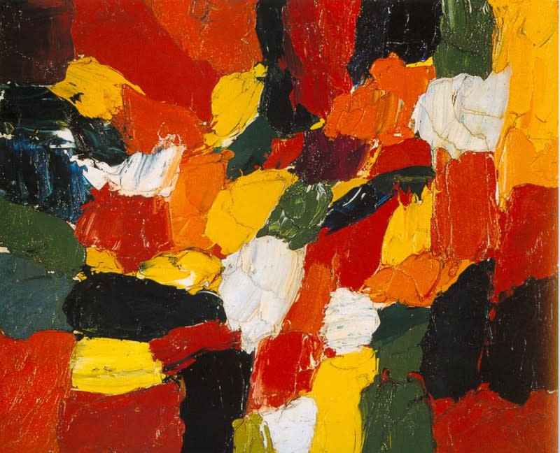 Guido Molinari, Untitled, 1954, oil on canvas, 19,75 x 24 cm (7,7 x 9,4 ins. ).