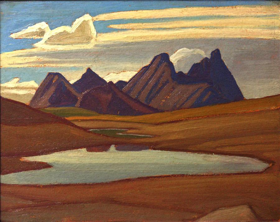 LAWREN HARRIS, LL.D., A.R.C. (1885-1970)  |  Montagnes, Jasper, vers 1924