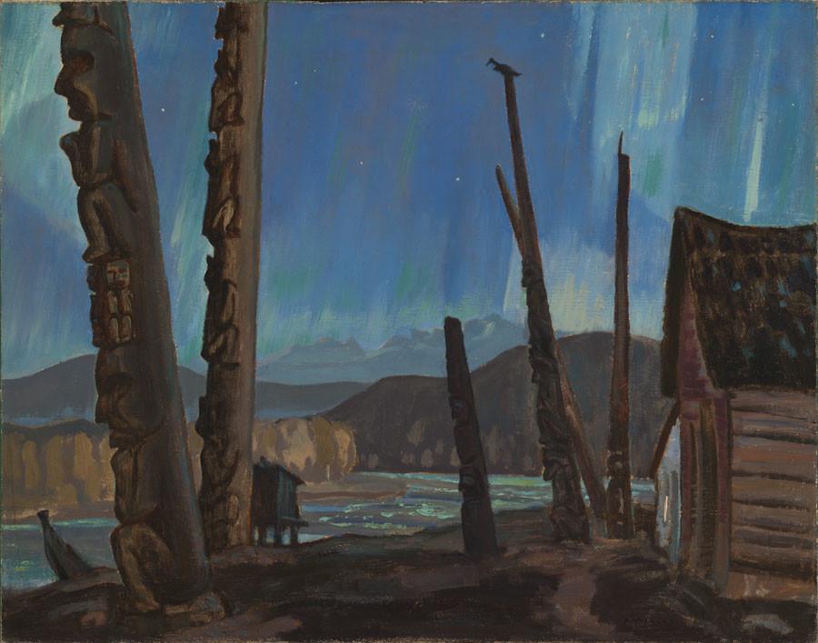 A.Y. JACKSON, LL.D., A.R.C., O.S.A. (1882-1974)  |  Crépuscule sur le fleuve Skeena, 1927