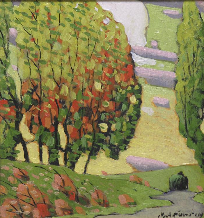 Marc-Aurèle Fortin (1888-1970)  |  Paysage d'automne, vers 1925
