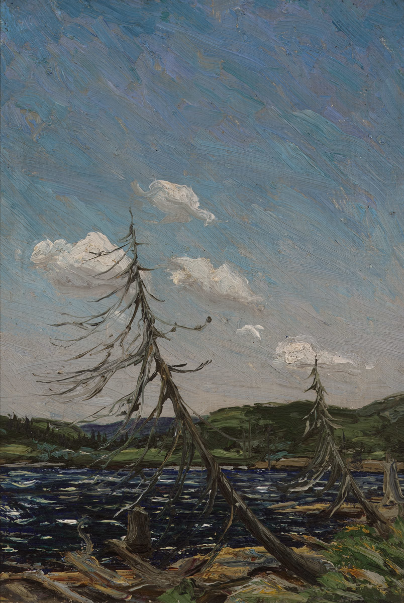 Tom Thomson, OSA | Northern Lake, c. 1912 | oil 10 x 7 in.