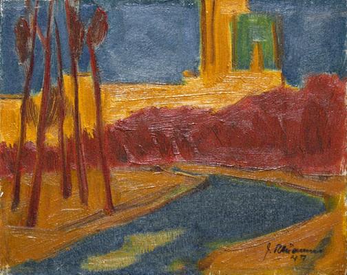 Jeanne Rhéaume's poignant fauve composition,