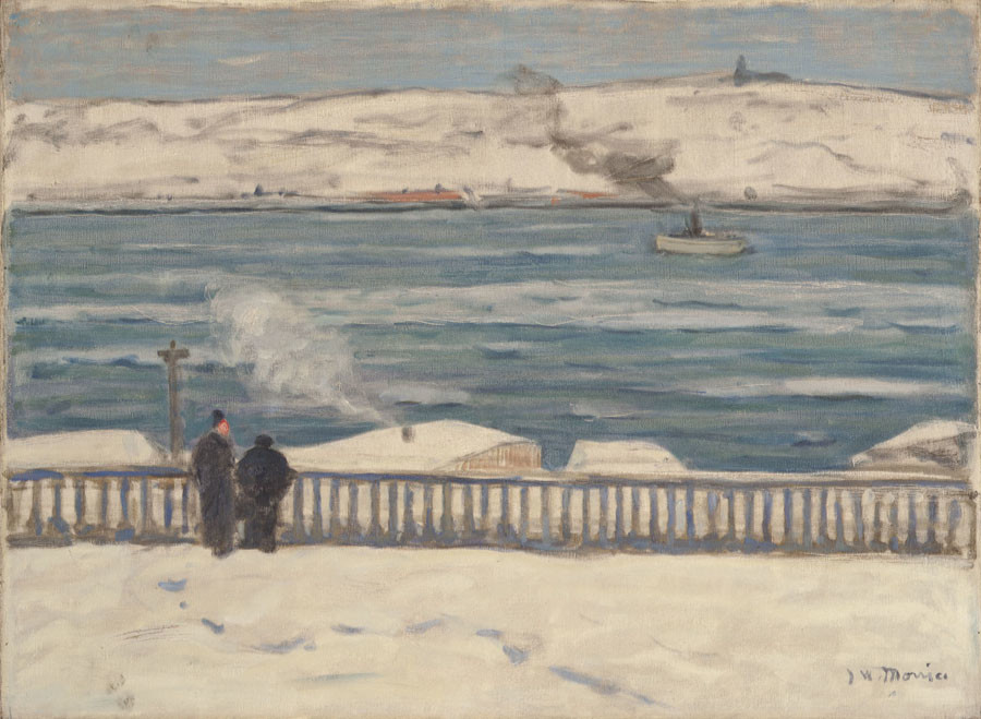 James Wilson Morrice, RCA (1865-1924)  |  View Towards Levis from Quebec, 1909  | Oil on canvas 23.3/4 x 31.1/2 in.