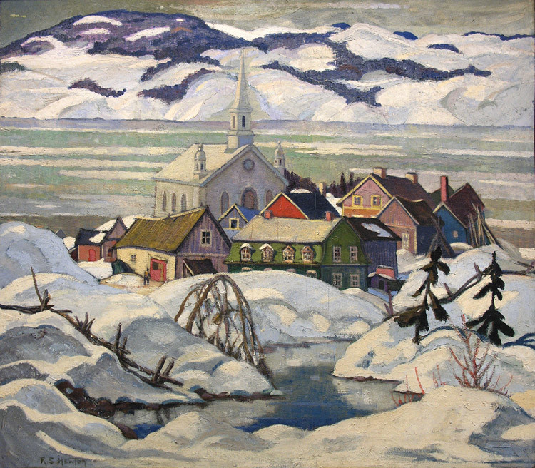 Randolph Hewton (1888-1960)  |  Village, bas St-Laurent, vers 1925