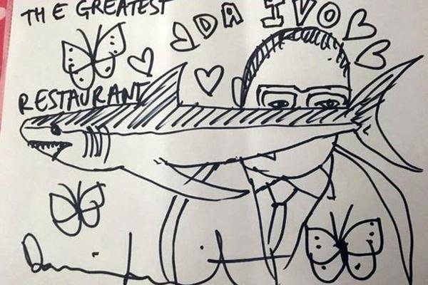 Damien Hirst Leaves Sketch Worth 250k As A Restaurant Tip Rhodes Contemporary Art