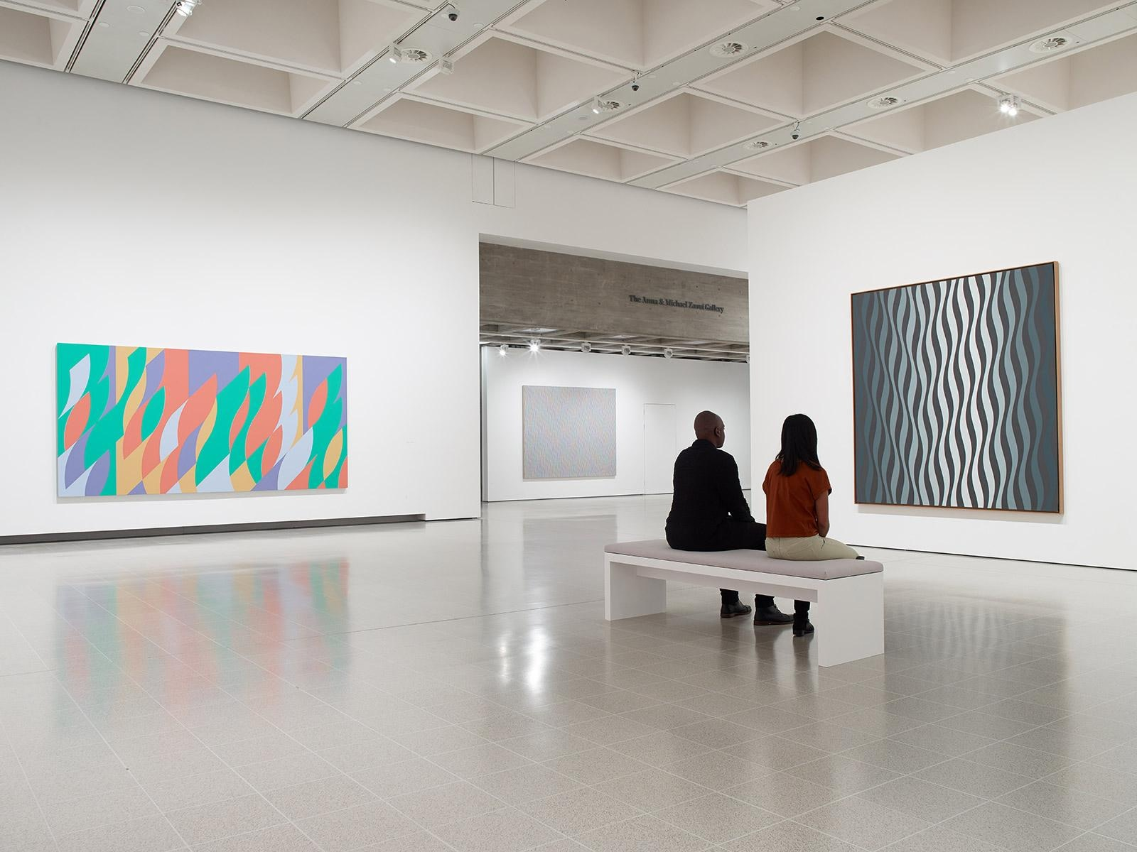 View of 'Bridget Riley' at Hayward Gallery, London. © The artist. Photography: Stephen White & Co