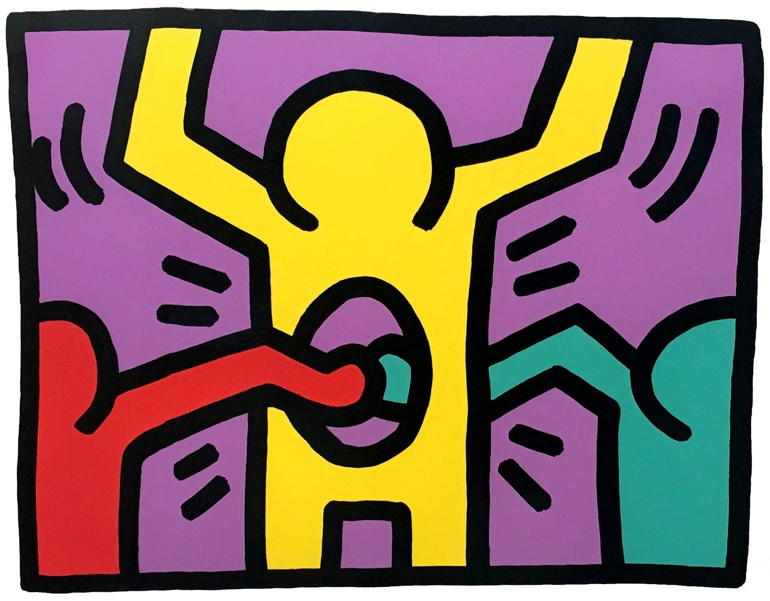 Pop Shop 1, by Keith Haring, 1987