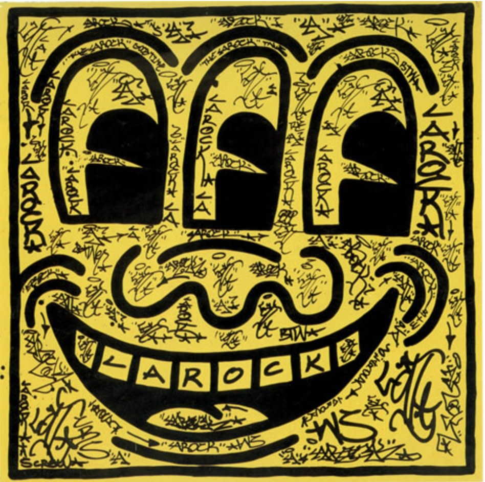 Untitled by Keith Haring and LA II, 1981