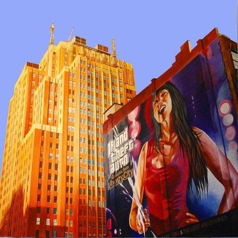 Liberty City NYC Mural - Peter Rocklin