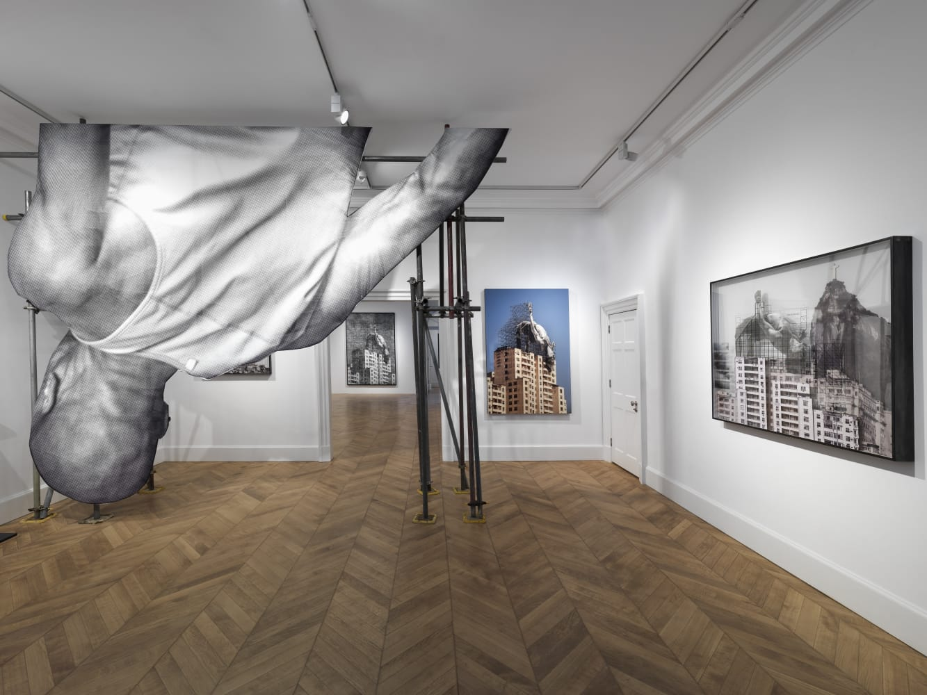 jr opens lazinc s new mayfair gallery with his exhibition giants