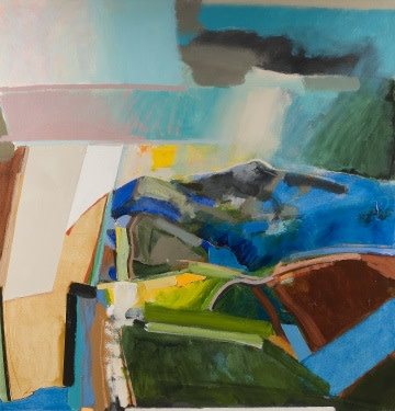 David Prentice On Summer Hill (2007) Oil on canvas, 134.5 x 129.5 cm