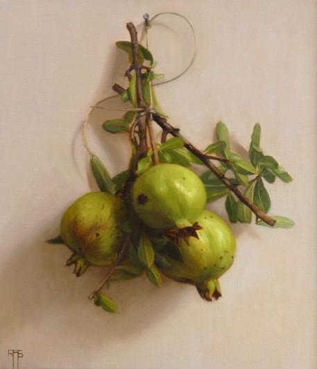 Raquel Alvarez Sardinia Pomegrantes Oil on linen, 38 x 33 cm