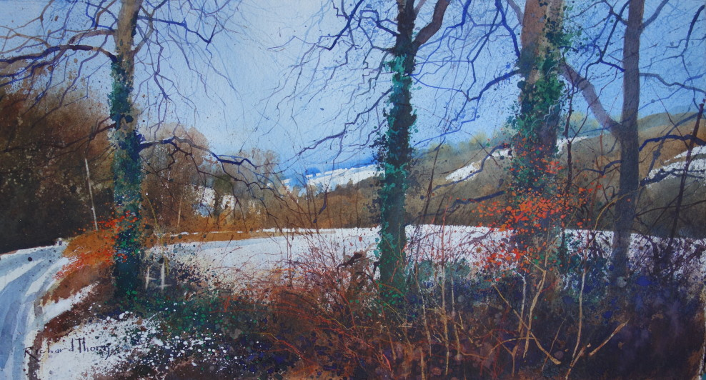 Richard Thorn SwaC Snowfall in the valley Mixed media, 31 x 57 cm