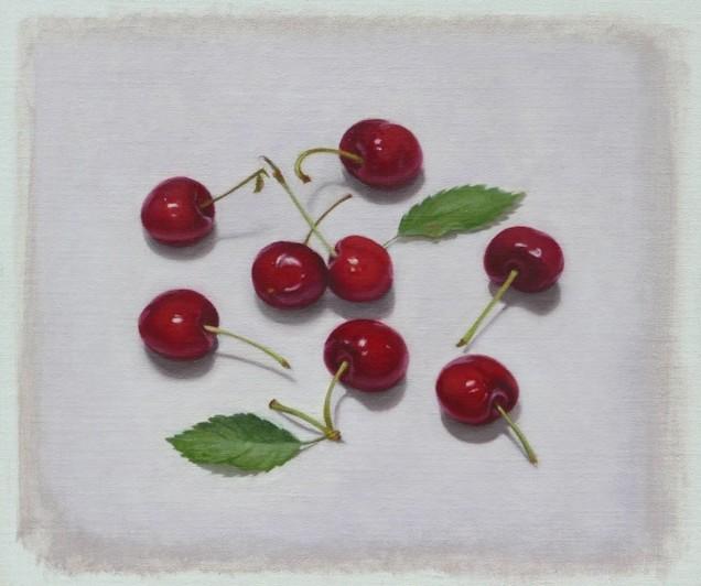 Raquel Alvarez Sardina Cherries Oil on linen, 23 x 28 cm