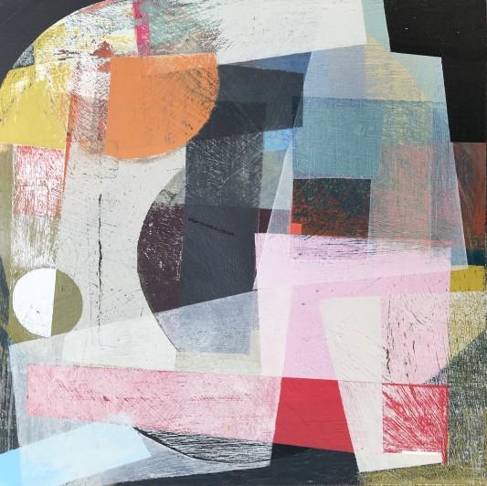 Emma Davis Gentle Landslide Acrylic on board, 30 x 30 cm