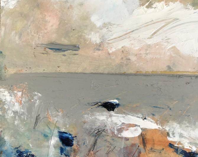 Mark Stopforth Blakeney Staite Oil on paper, 19.6 x 24 cm