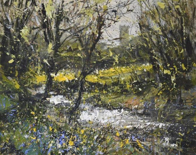 Chris Prout A bright spring morning, St.Davids, Pembrokeshire Acrylic on canvas, 40 x 50 cm