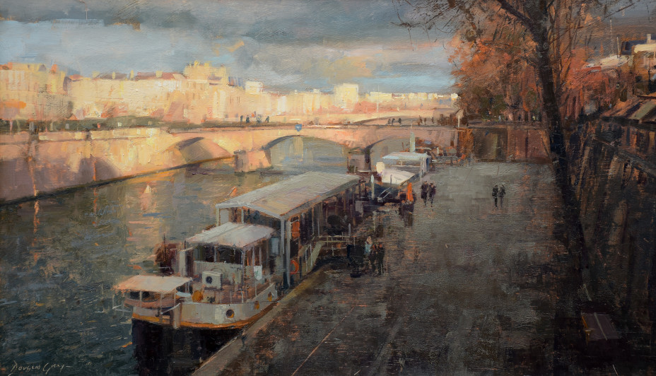 Douglas Gray Metamorphis, Paris Oil, 30.5 x59 cm