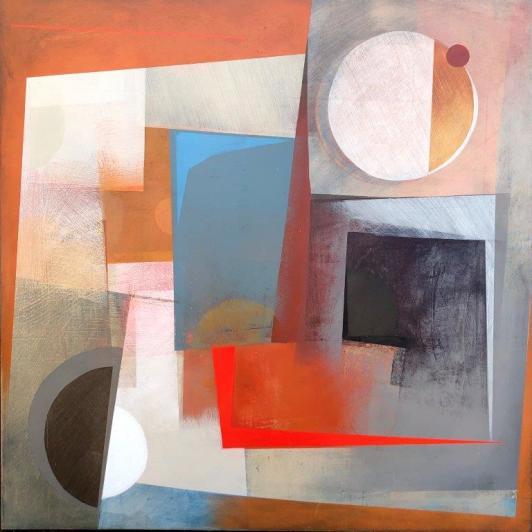 Emma Davis Solo Acrylic oil board, 90 x 90 cm