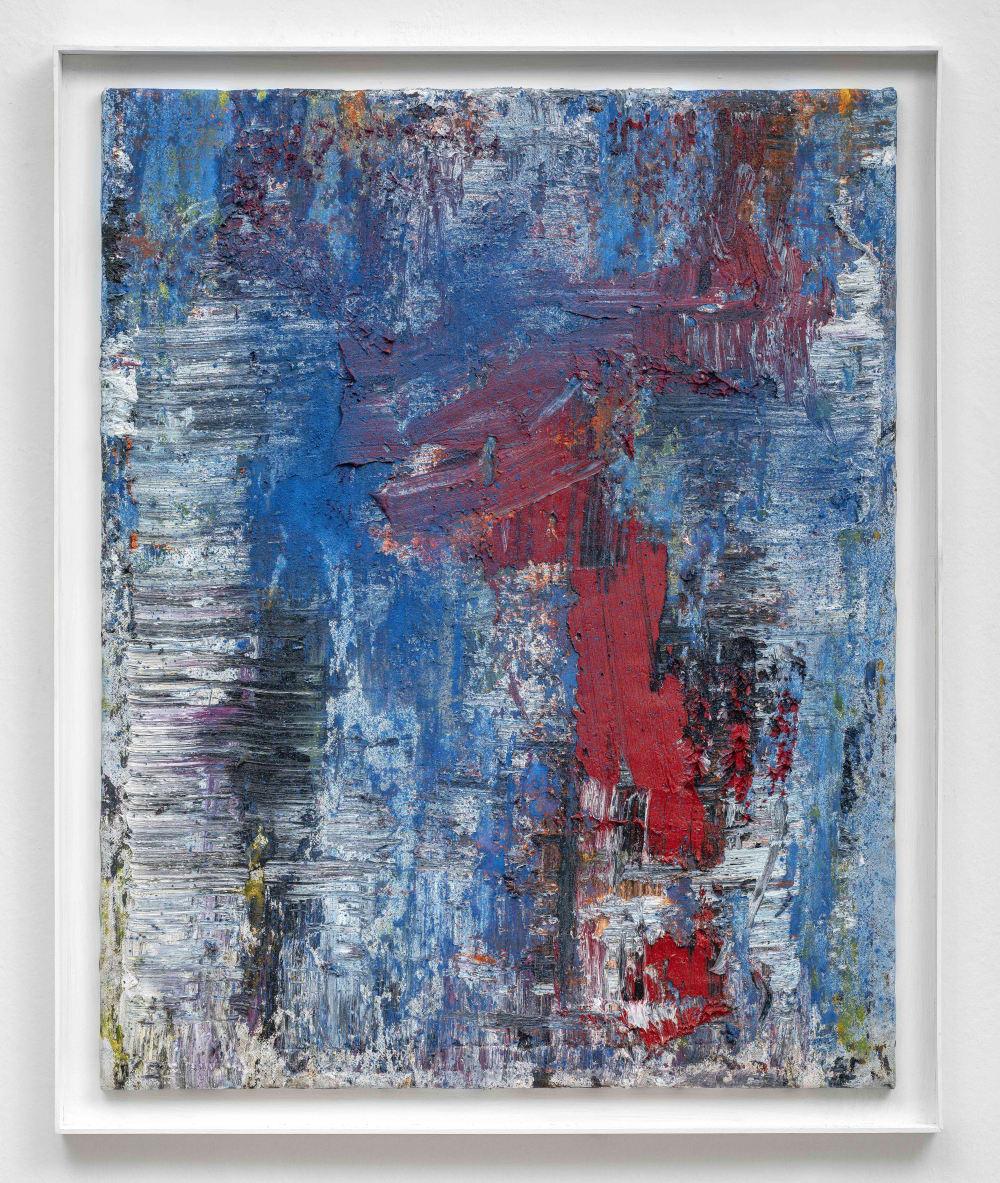 Janus Hochgesand Ohne Titel, 2020 Ölfarbe und Pigmente 100 x 80 cm