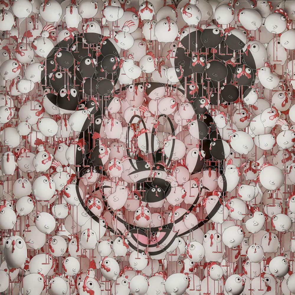 Ceet Fouad, Mickey Chicanos Blurry NO.3, 2016