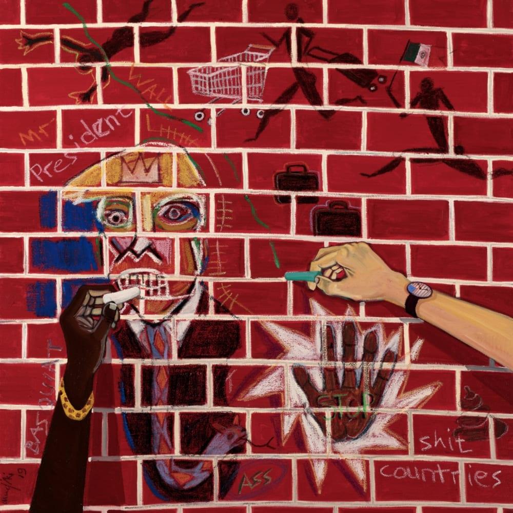 Richard Mudariki, The writing on the Wall, 2019