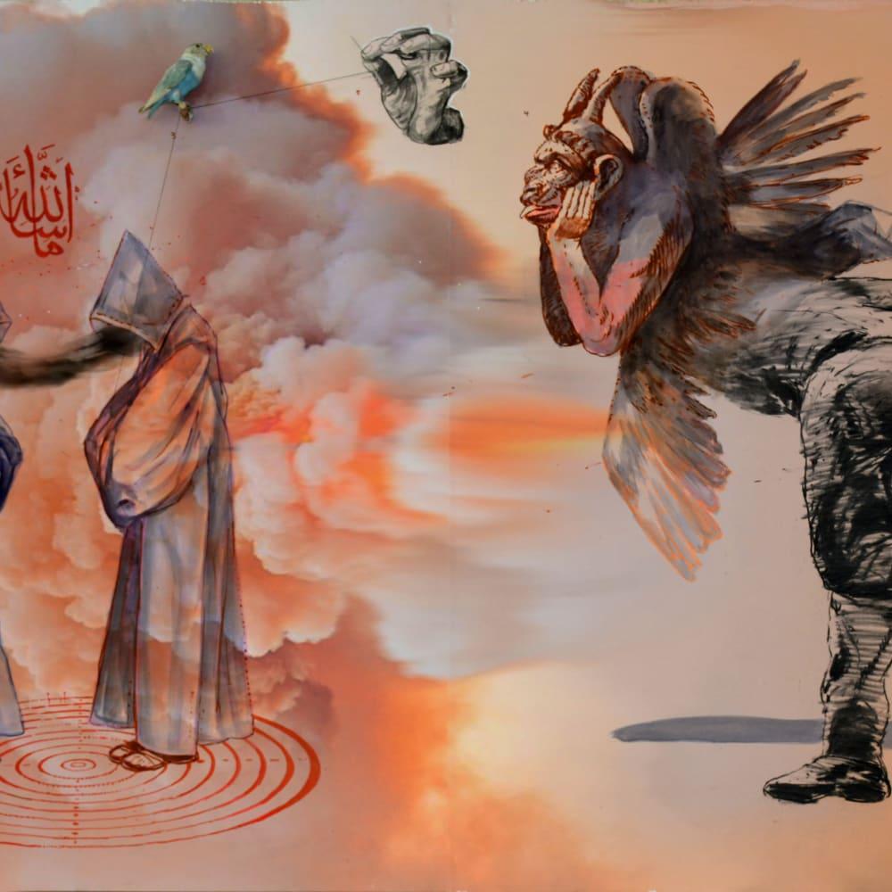 Mohamed Lekleti, Worn in the dust of light, 2019