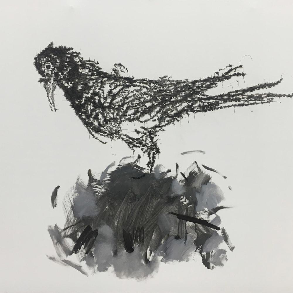 Ye Yongqing 葉永青, Bird and Nest, 2018