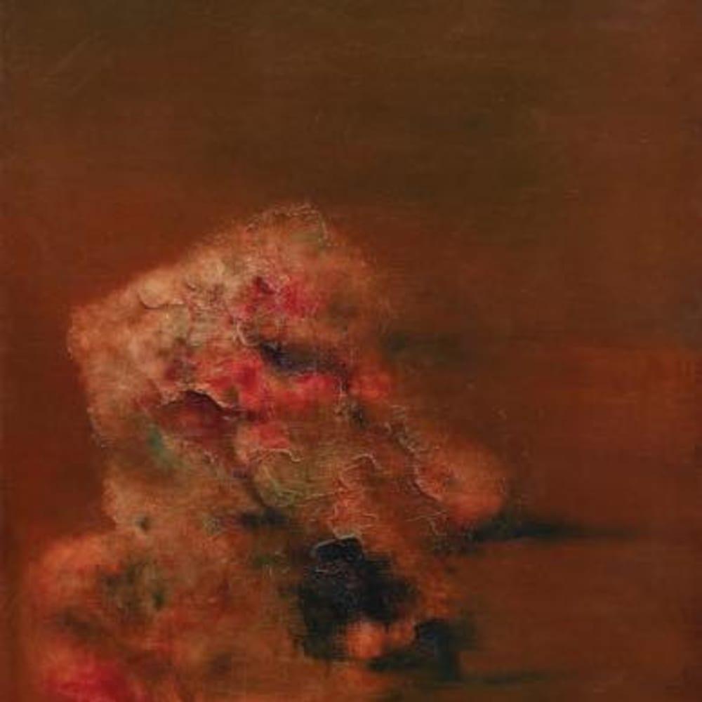 Zhou Chunya 周春芽, 紅色石頭 Red Stone, 1999