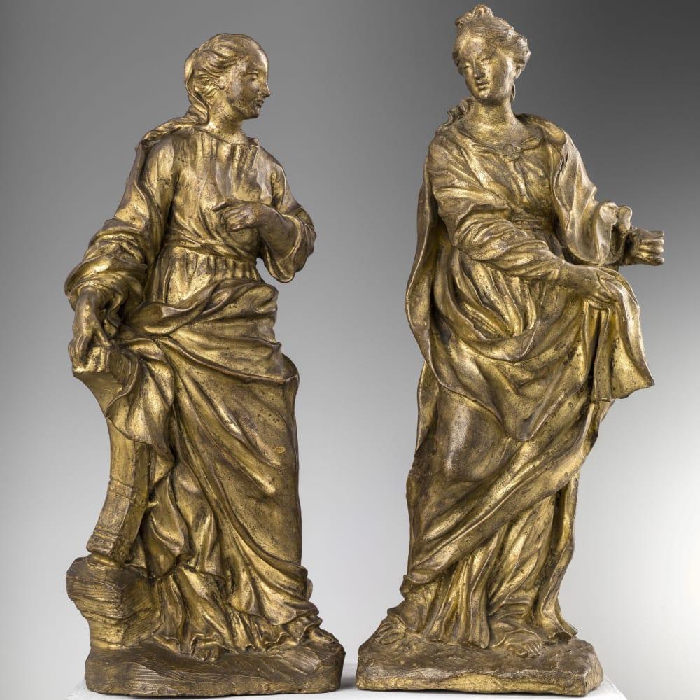 Pietro Baratta, ST CATHERINE OF ALEXANDRIA AND FIGURE OF A FEMALE SAINT