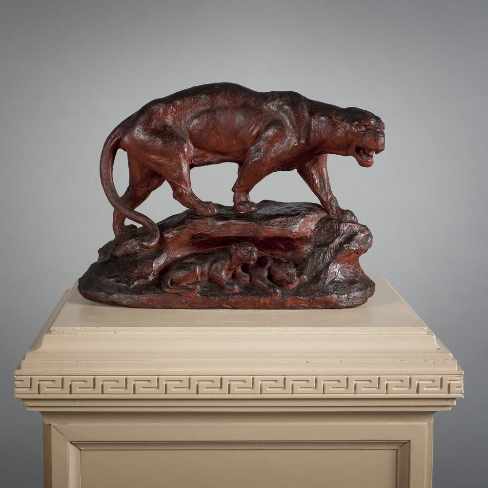 A Wax Sculpture of a Lioness, Second half 19th Century