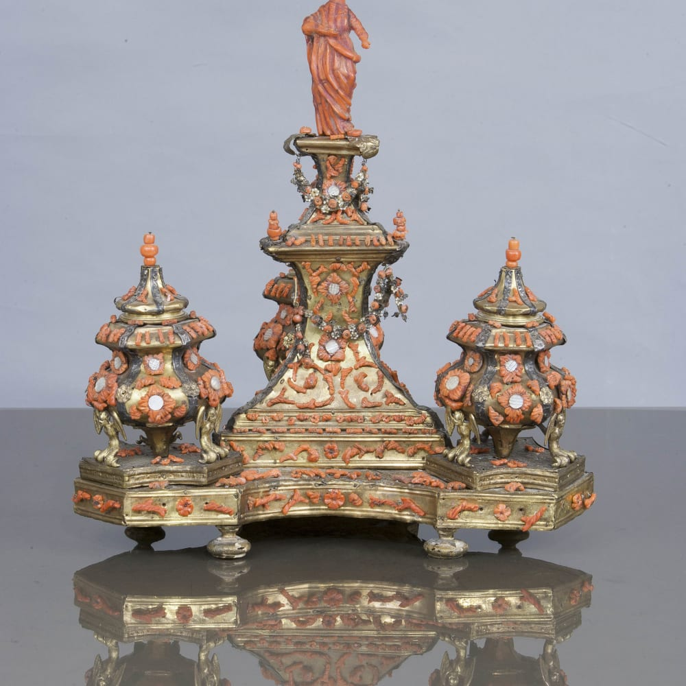 An Exceptional Inkwell, Trapani, 17/18th Century