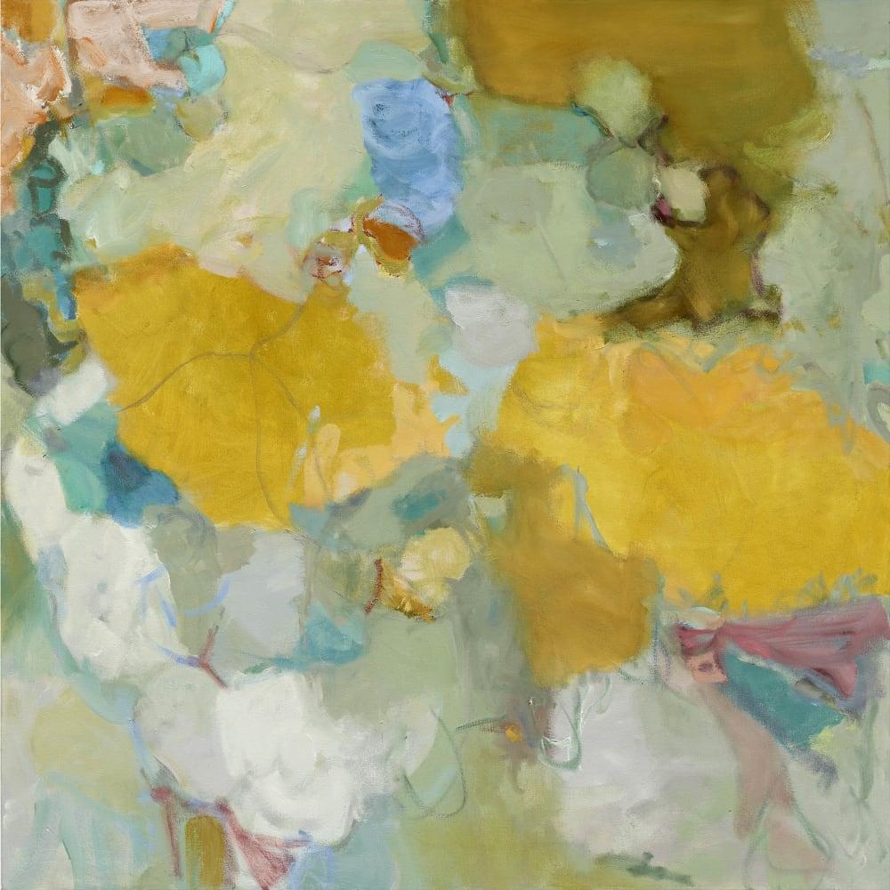 "Terrell James  Between Twins  oil on canvas  107cm x 107cm (42"" x 42"")"
