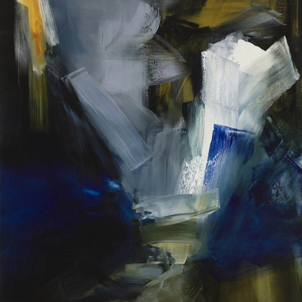 "Woman with a Balance IV  Elise Ansel  oil on canvas  152cm x 137cm (60"" x 54"")"